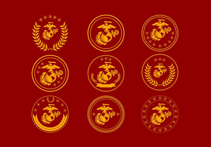 USMC Badge Logo Free Vector