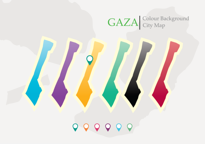 Map of Gaza Strip Vector