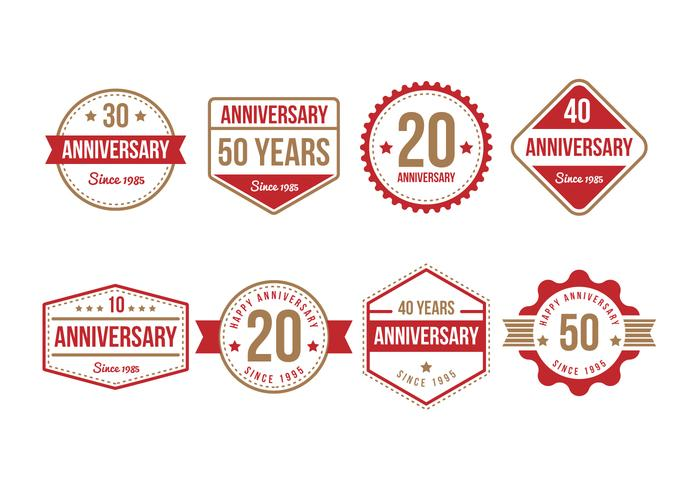 Free Anniversary Badge Collection