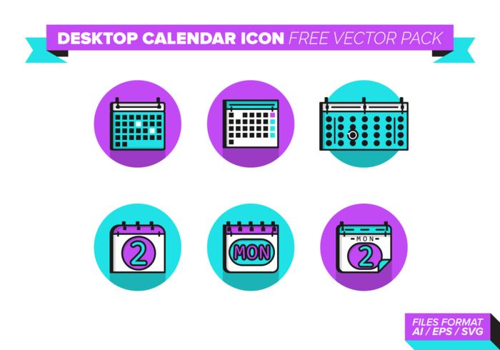 Desktop Calendar Icon Vector Pack