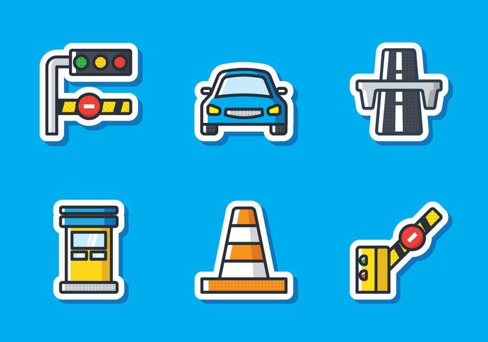 Toll Sticker Icon
