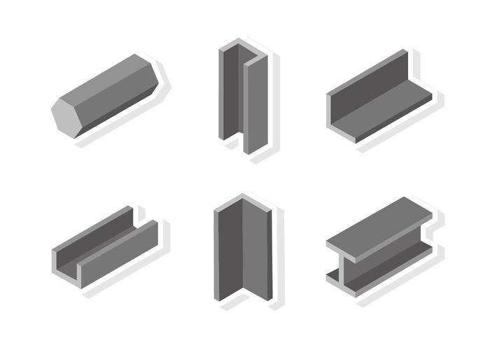 Flat Girder Sticker vector
