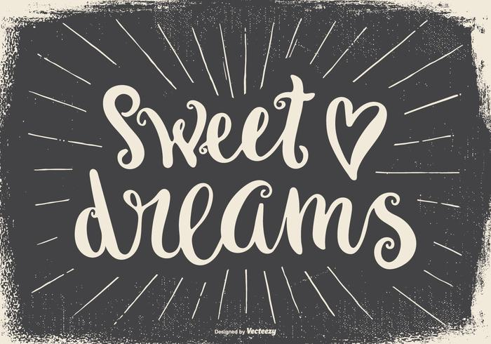 Sweet Dreams Typographic Illustration