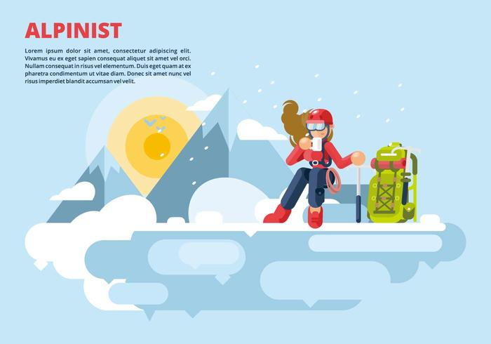 Aplinist Illustration vector