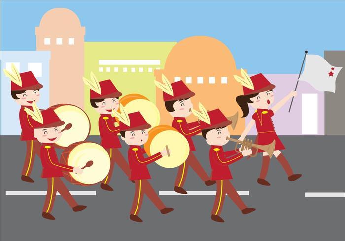 Desfile de la banda vector