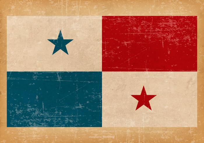 Grunge flagga av Panama