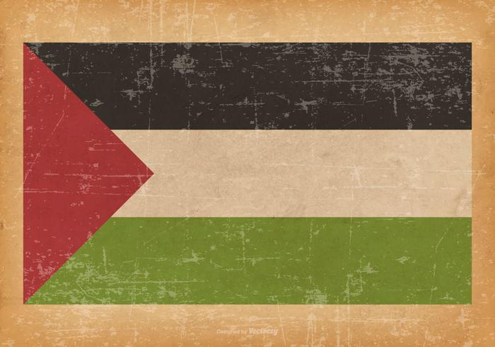 Bandiera del grunge della Palestina