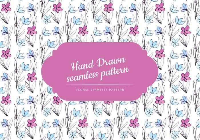Padrão floral desenhado mão bonito vetor