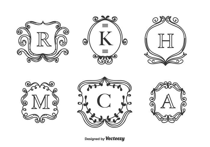 Monogrammen Vector Set