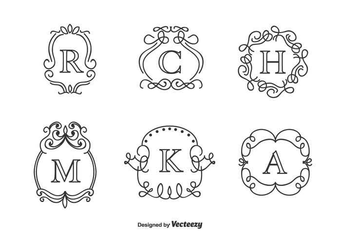 Free Monograms Vector Set