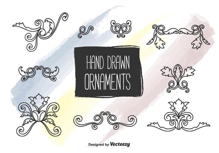 Hand Drawn Ornaments Vector