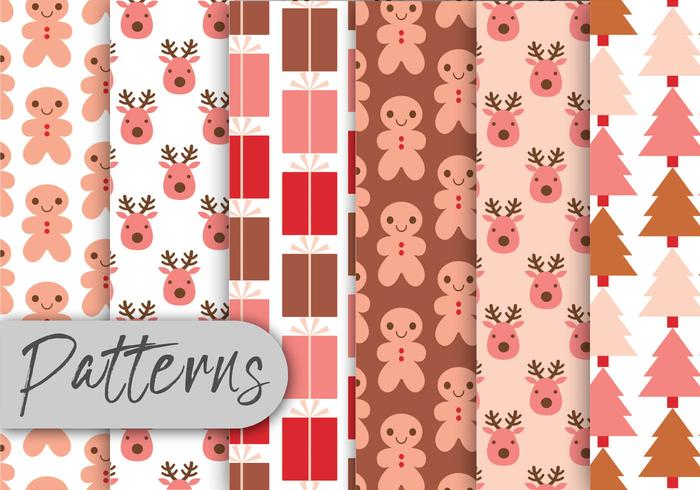 Pink Christmas Pattern Set