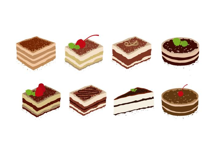 Free Tiramisu Vector Collection
