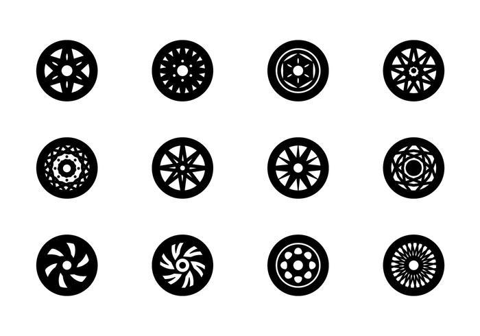 Wheels Icon Set