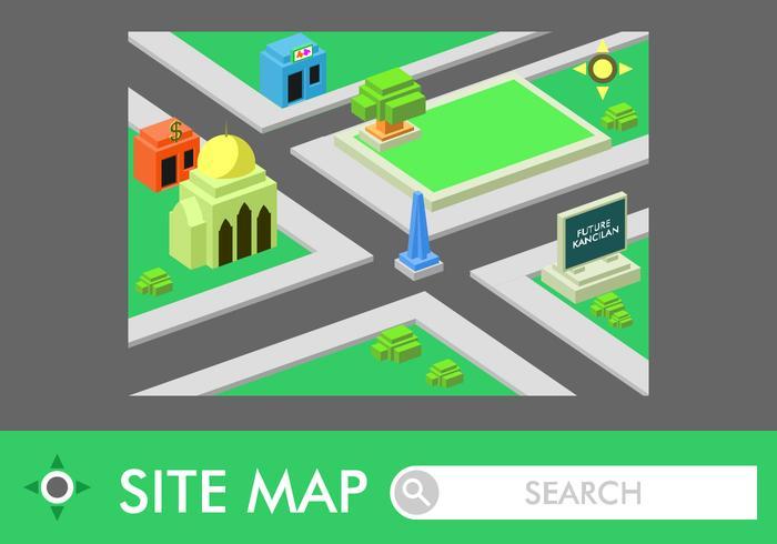 Isometric Roadmap Free Vector
