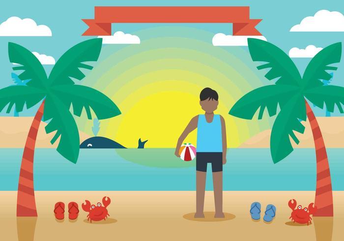 Playa ilustración vectorial playa