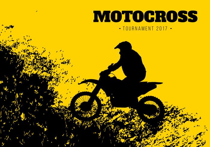 Motocross Hintergrund Illustration