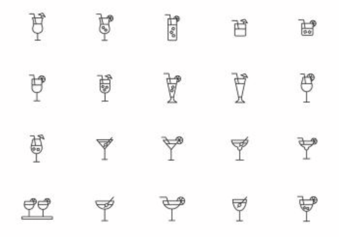 Free Mocktail Vectors