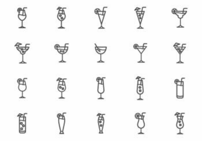 Free Mocktail Vectors