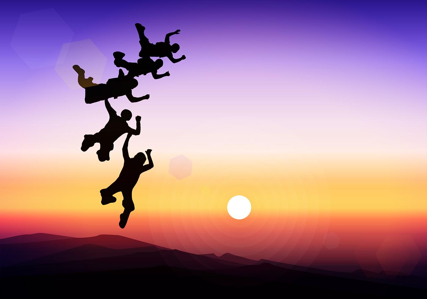 skydiving wallpaper sunset free - photo #20