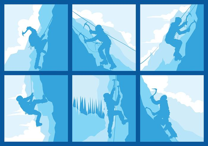 Alpinist Vector Pictogrammen