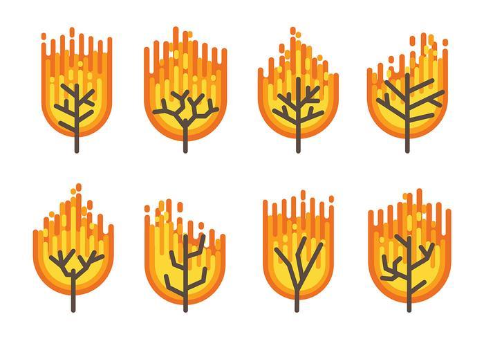 Burning Bush Vector Icons
