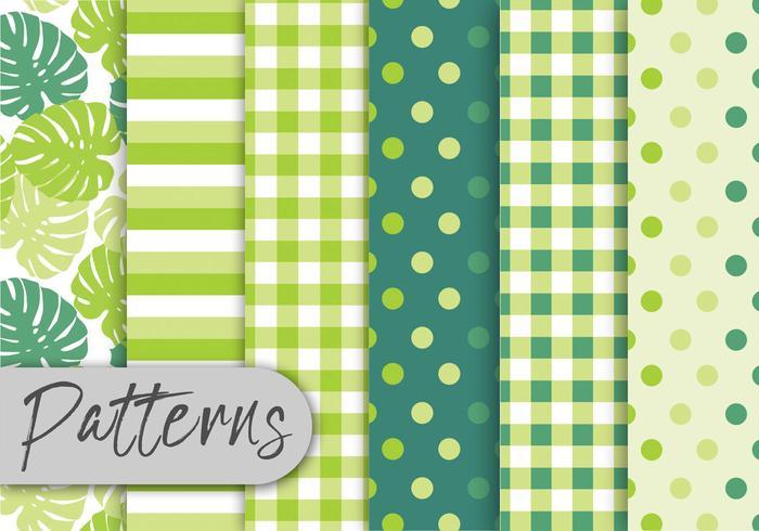 Verde tropical conjunto de patrones