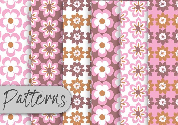 Pastel Bloemenpatroon Set