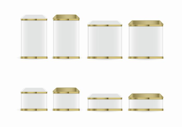 Tin Box Vector