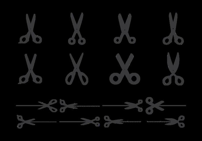 Cut Here Scissors Vector