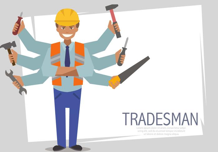 Multitasking Tradesman Vector Templates