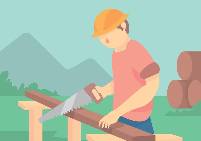 Carpenter Tradesman Vector