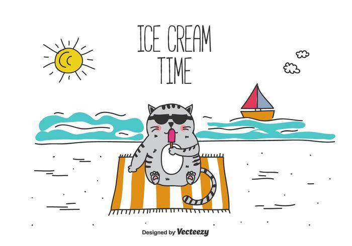 Vector de tiempo de helado
