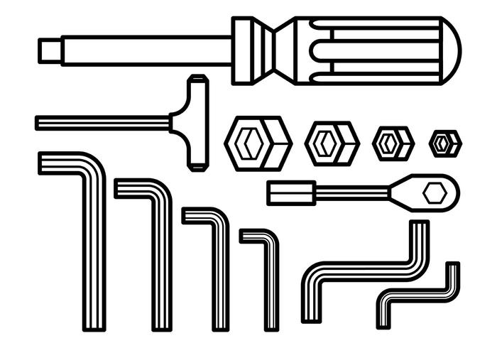 Allen Key Vector Icons