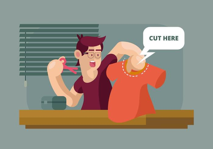 Cut Here Illustration