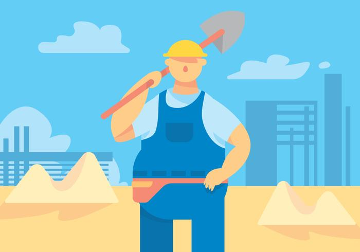Tradesman Worker Vector