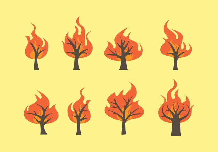 Brandende bosvectoren