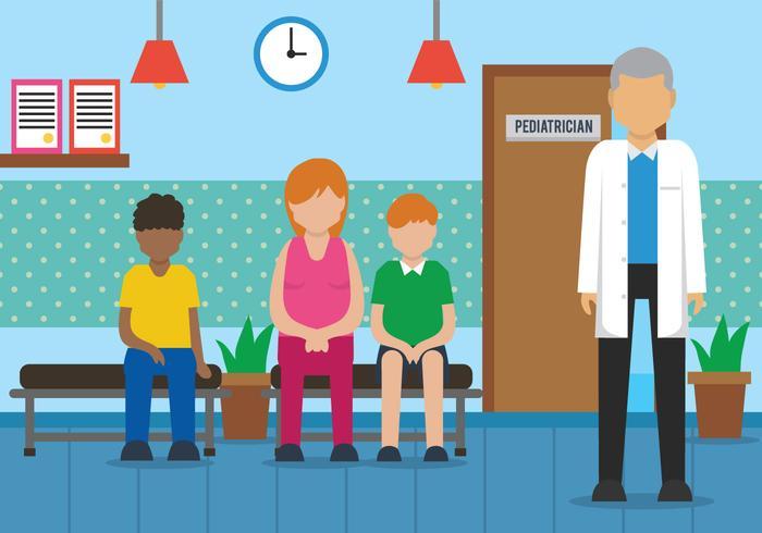 Ilustração vetorial do pediatra