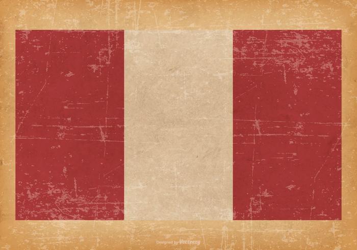 Grunge Flagge von Peru