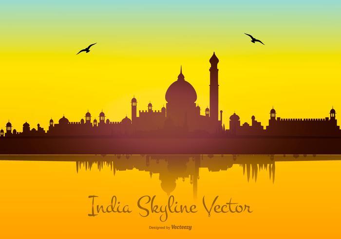 India Background: India Skyline Vector Background