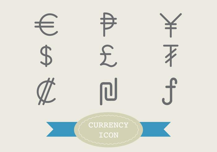 Outline Currency Icon Vectors