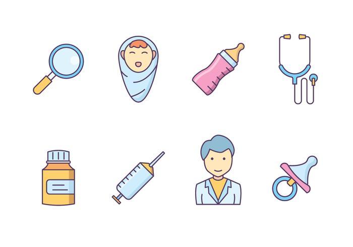 Gratis Pediatrie Icon Set