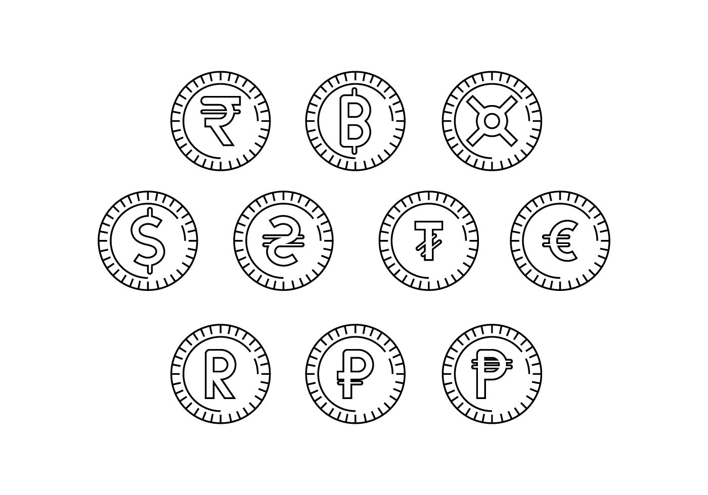 Free Currency Coin Symbol Icon Vector Download Free