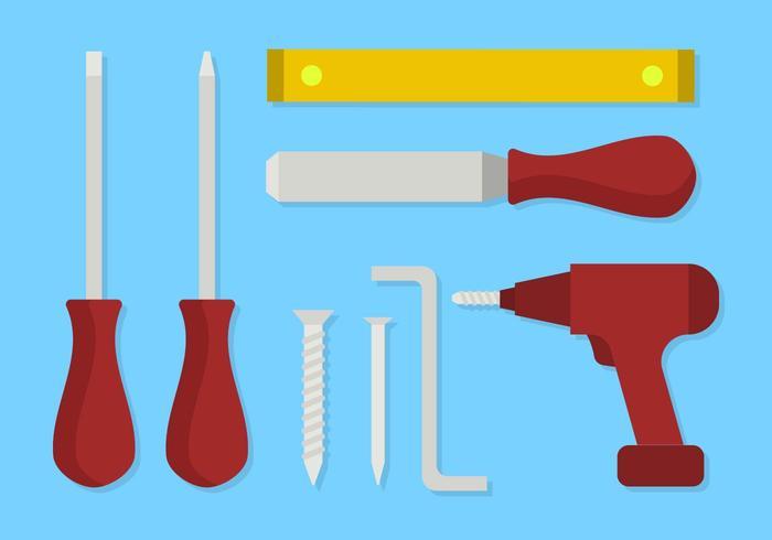 Platte gereedschapsvectoren