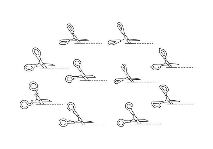 Gratis sax ikon med skärlinje vektor