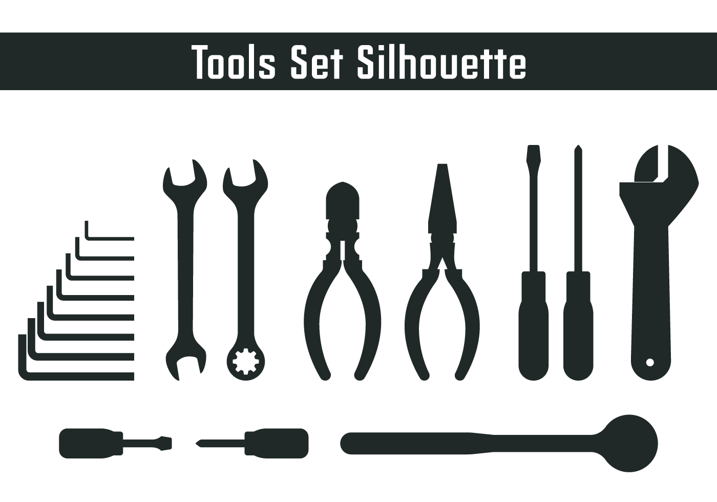 Tools Set Silhouette - Download Free Vector Art, Stock ...