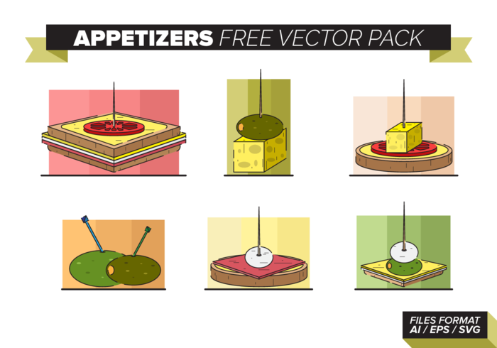Appetizers Free Vector Pack
