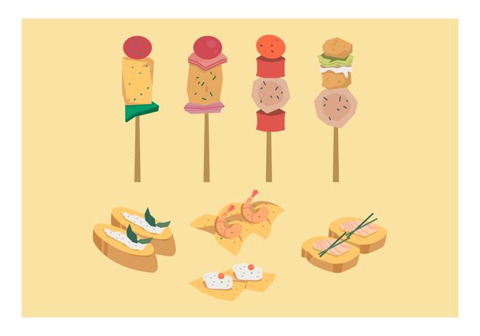 Free Appetizers Vector Collection