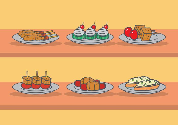 Appetizers vector set