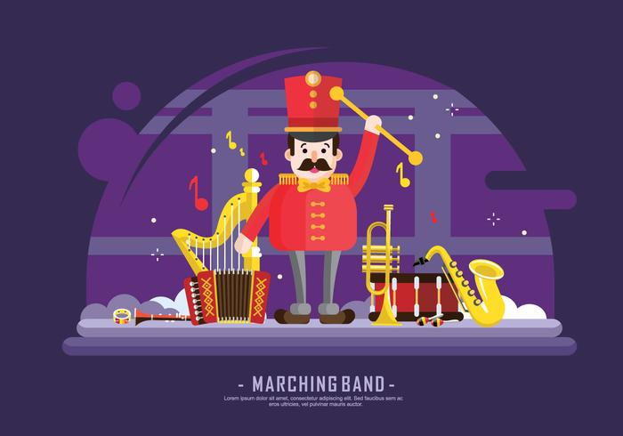 Marching Band Instrument Vector Illustration